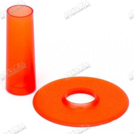 Couvre tige et anti poussière Seimitsu LS-CD - Transparent Rouge