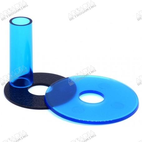 shaft and dust cover Sanwa JLF-CD - Transparent - Blue