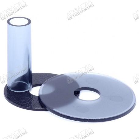 shaft and dust cover Sanwa JLF-CD - Transparent - Smoke gray