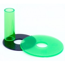 Sanwa JLF-CD shaft and dust cover - Transparent - Green