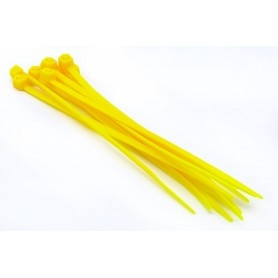 Collier nylon 3mm x 100mm (lot de 10) - Jaune