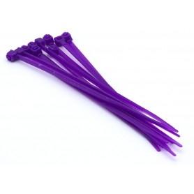 Nylon collar 3mm x 100mm (set of 10) - Purple