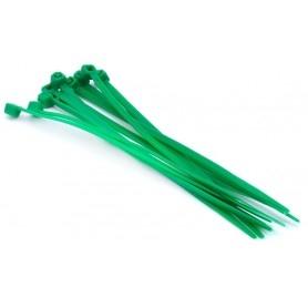 Nylon clamp 3mm x 100mm (set of 10) - Green