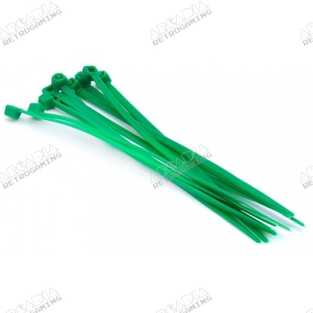 Collier nylon 3mm x 100mm (lot de 10) - Vert
