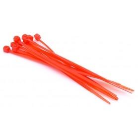 Nylon clamp 3mm x 100mm (set of 10) - Orange