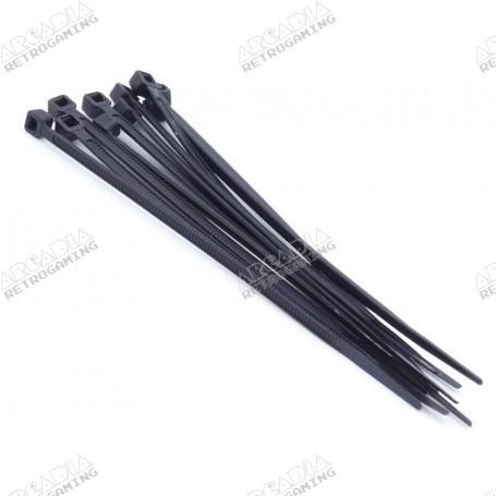 Collier nylon 3mm x 100mm (lot de 10) - Noir