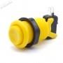 American Style Push Button - Yellow