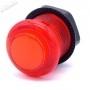 Bouton poussoir lumineux transparent AIO 5v - Rouge
