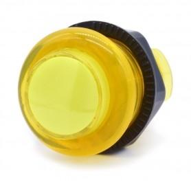 Bouton poussoir lumineux transparent AIO 12v - Jaune