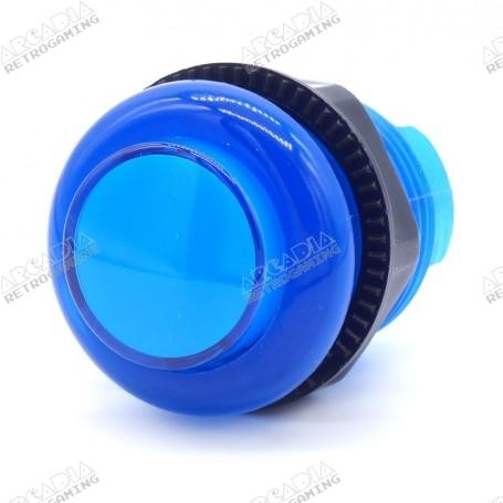 Bouton poussoir lumineux transparent AIO 12v - Bleu