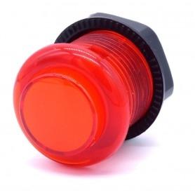 Bouton poussoir lumineux transparent AIO 12v - Rouge