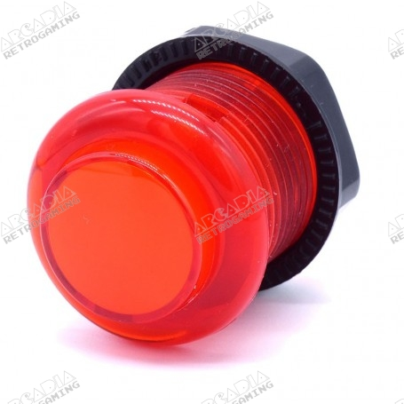 Transparent illuminated push button AIO 12v - Red