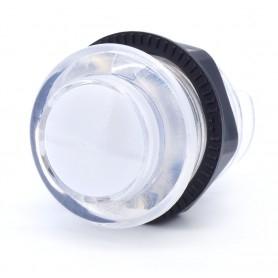 Bouton poussoir lumineux transparent AIO 12v - Blanc