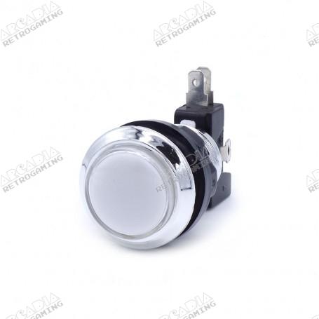Illuminated chrome push button - White