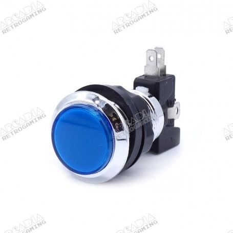 Illuminated chrome push button - Blue