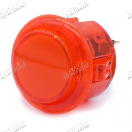 Bouton poussoir AIO silencieux transparent - Rouge