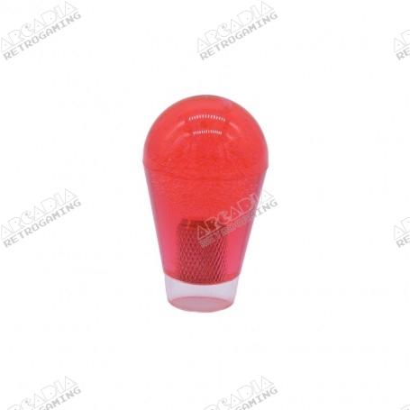 Poignée Poire Transparente 30mm - Rouge