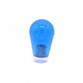 Poignée Poire Transparente 30mm - Bleu