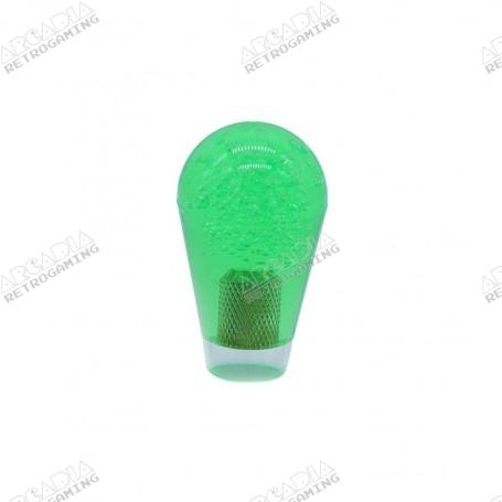 Poignée Poire Transparente 30mm - Vert