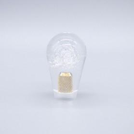 Poignée Poire Transparente 30mm - Blanc