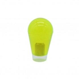Poignée Poire Transparente 30mm - Jaune