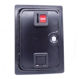 Single door with coin mechanism